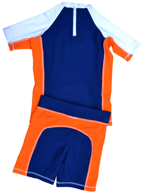 maillot de bain anti uv 2p gar on bleu vetements anti uv. Black Bedroom Furniture Sets. Home Design Ideas