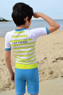 Tee Shirt anti UV avec short assorti - CAP FERRET
