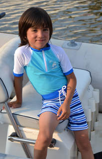 Ensemble Tee Shirt & Short Anti UV SAILING