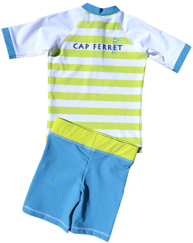 fashion hot sales picked up Tee Shirt anti UV avec short assorti - CAP FERRET