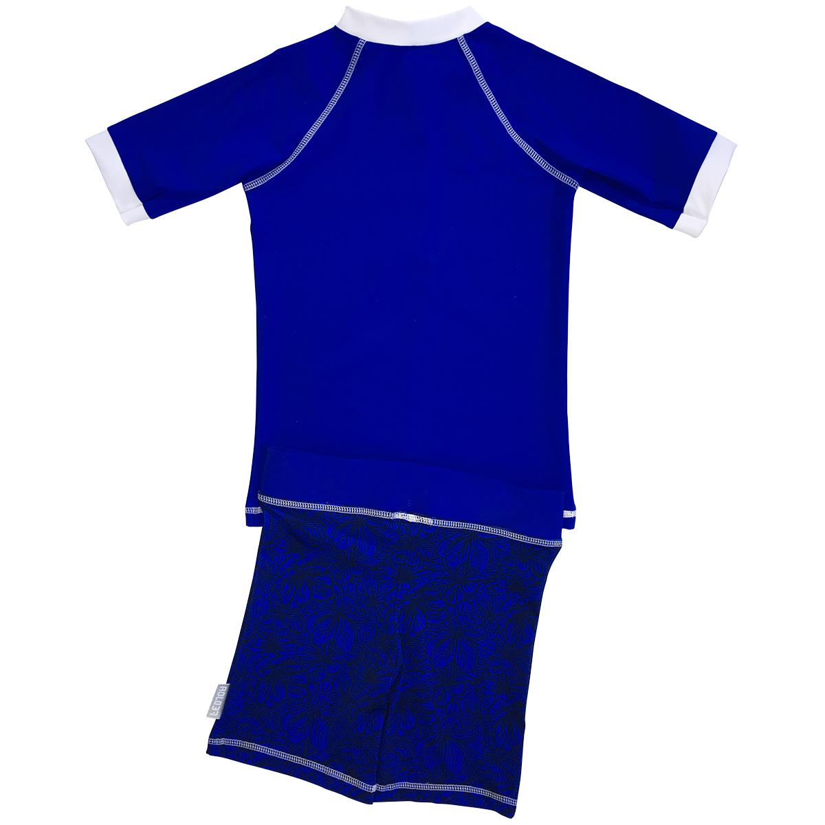 t shirt anti uv avec short bleu jeffreys bay fedjoa gar on. Black Bedroom Furniture Sets. Home Design Ideas
